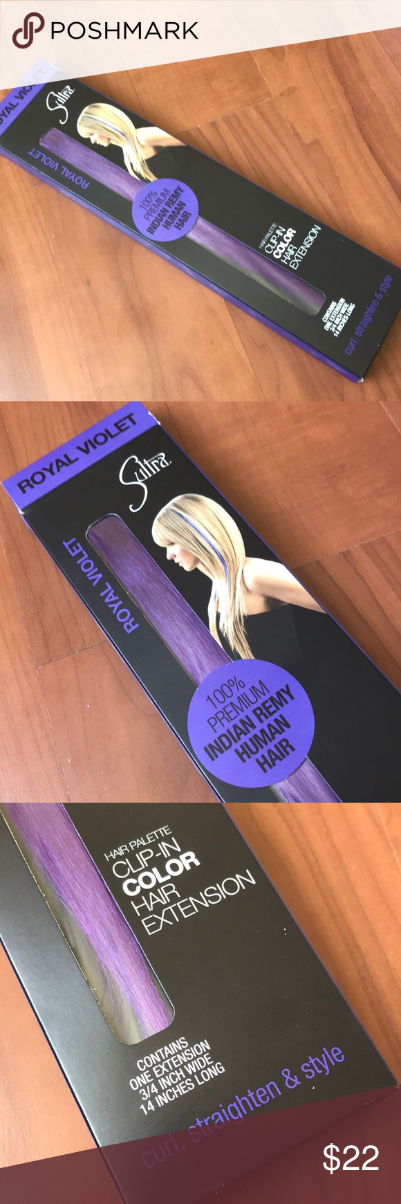 Royal Violet Hair Extension Clip On Nwt Poshmark Finds Pinterest
