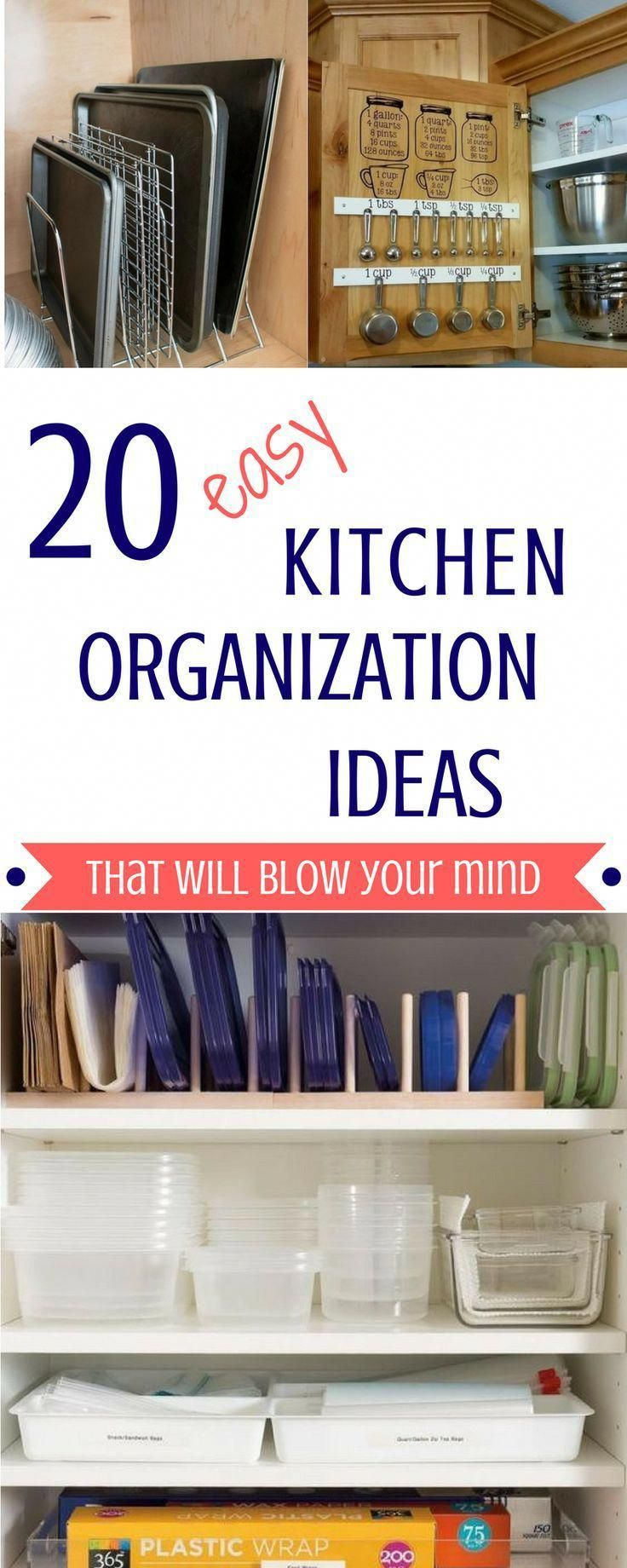 20 easy kitchen organization ideas luresandlace com on clever ideas for diy kitchen cabinet organization tips for organizers id=33480