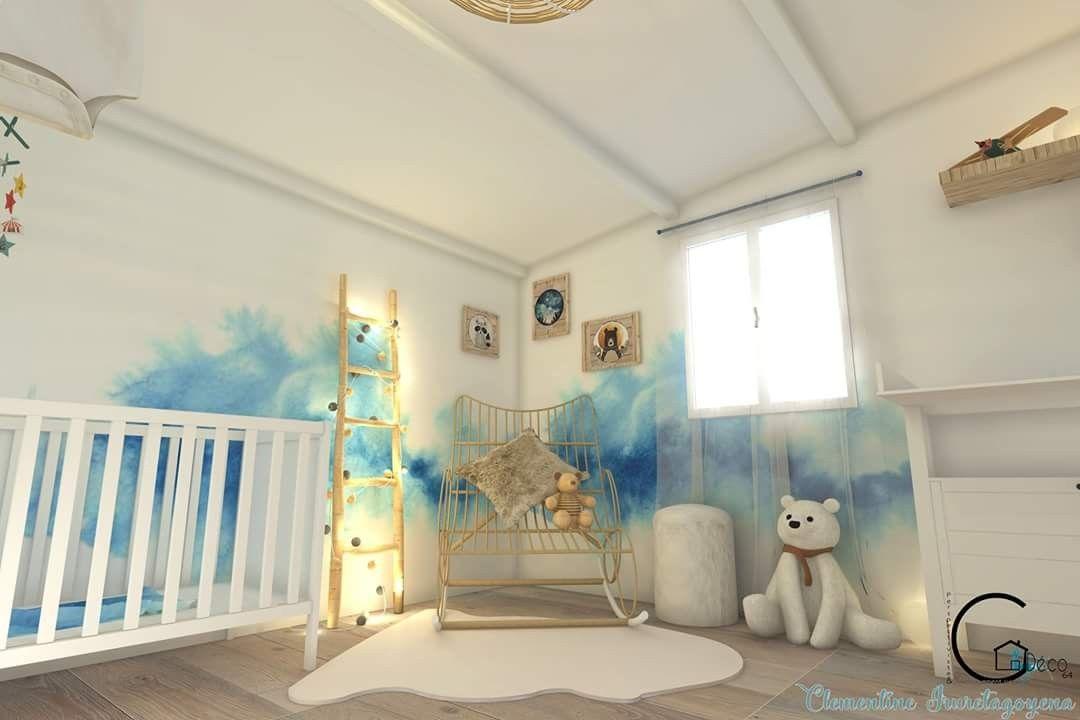 Une Jolie Chambre De Bebe Sur Le Theme De L Ocean Aquarelle Au