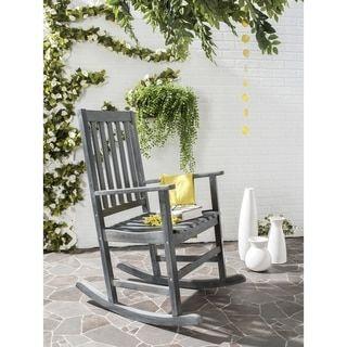 Cool Safavieh Outdoor Living Barstow Ash Grey Rocking Chair Unemploymentrelief Wooden Chair Designs For Living Room Unemploymentrelieforg