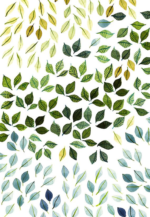 Green Leaves Fine Art Print Green Leaves Wall Decor Green Home