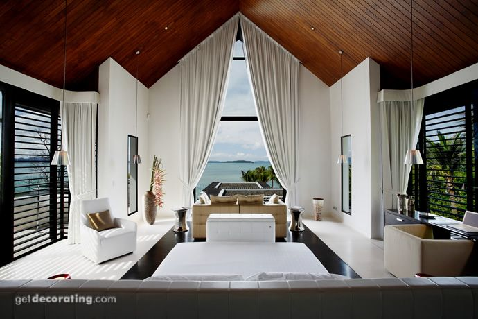 Window Coverings vaulted ceiling window treatments, exotic ...