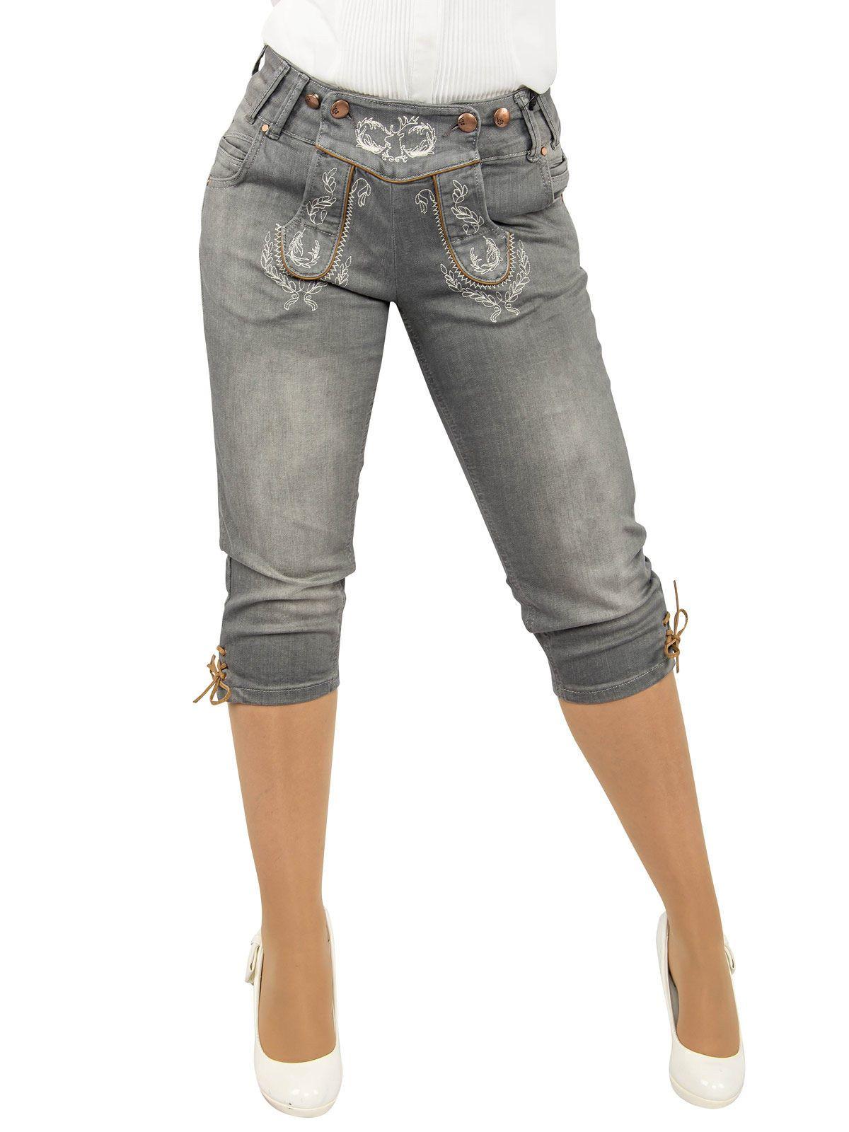 trachtenjeans damen marjo damen jeans kniebundhose. Black Bedroom Furniture Sets. Home Design Ideas
