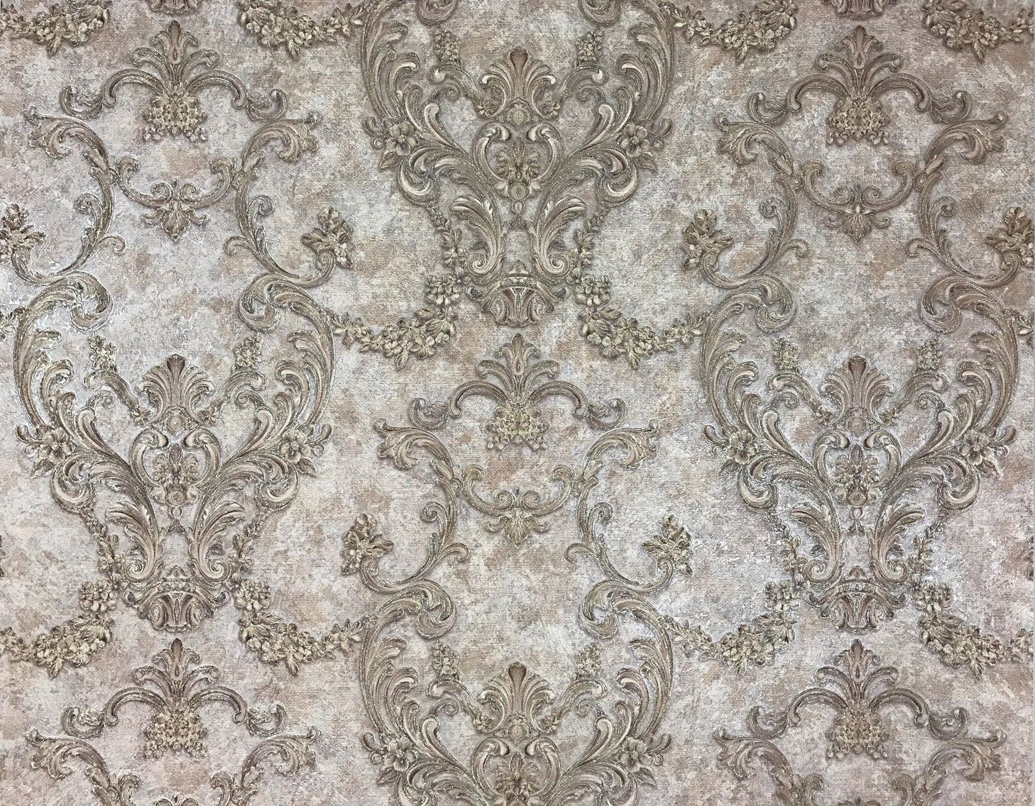 L89507 Victorian Gray Brown taupe Textured Wallpaper in