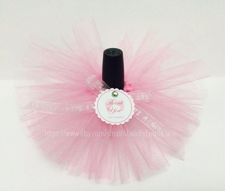 Set Of 10 Baby Shower Nail Polish Tutus With Customizable