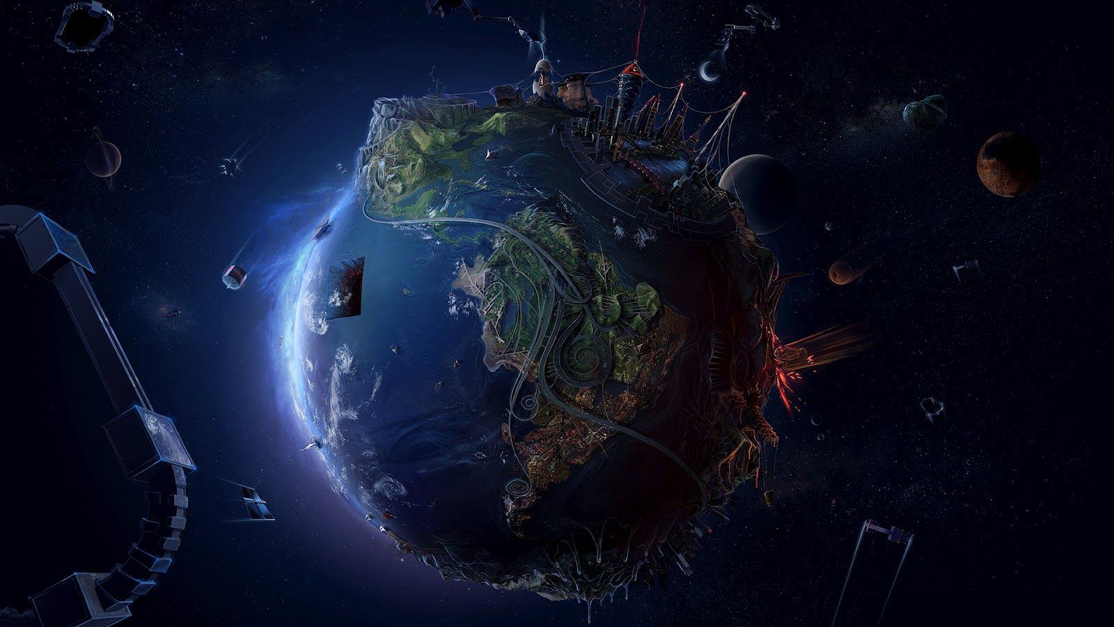 Animated Globe HD Wallpaper Space HD Wallpaper 3D Space HQ