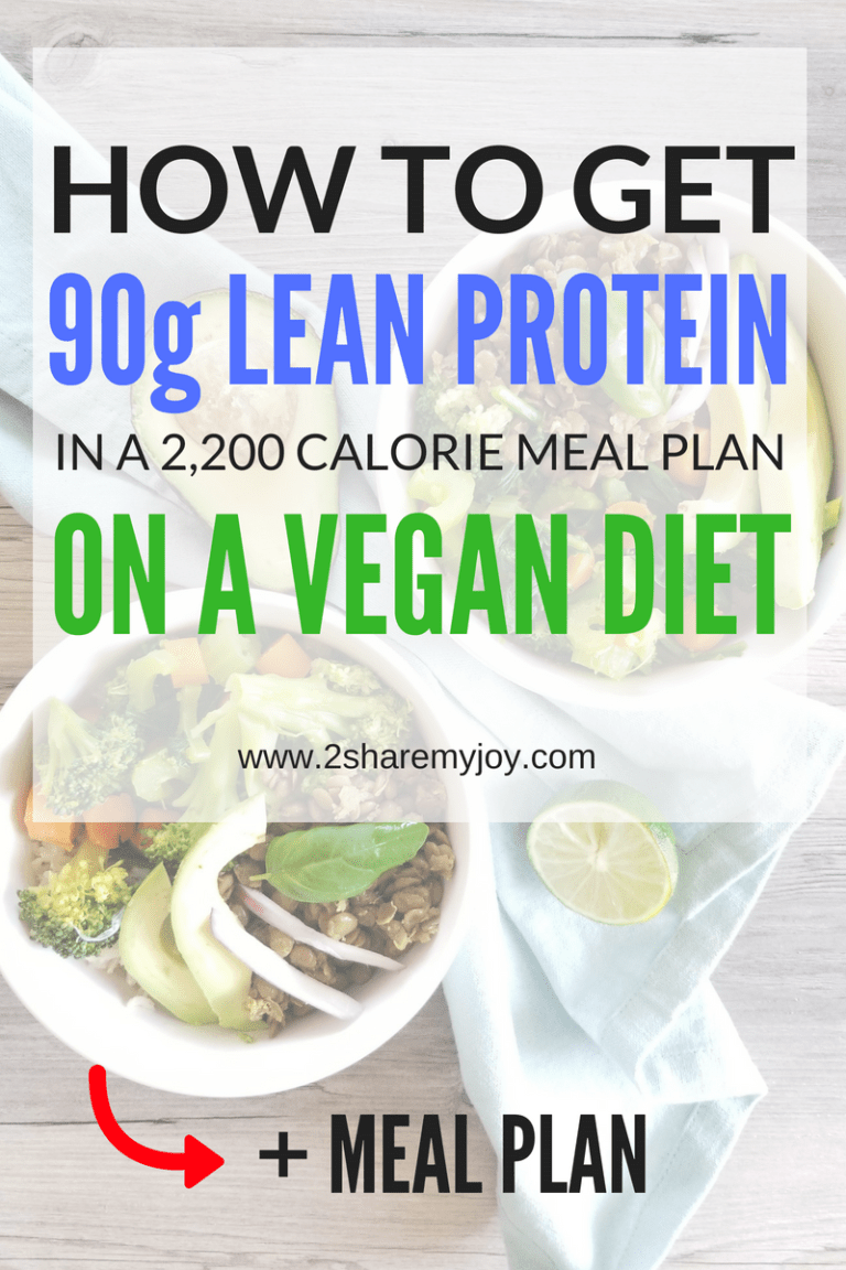 High Protein Vegan Meal Plan 2200 Calories Meal