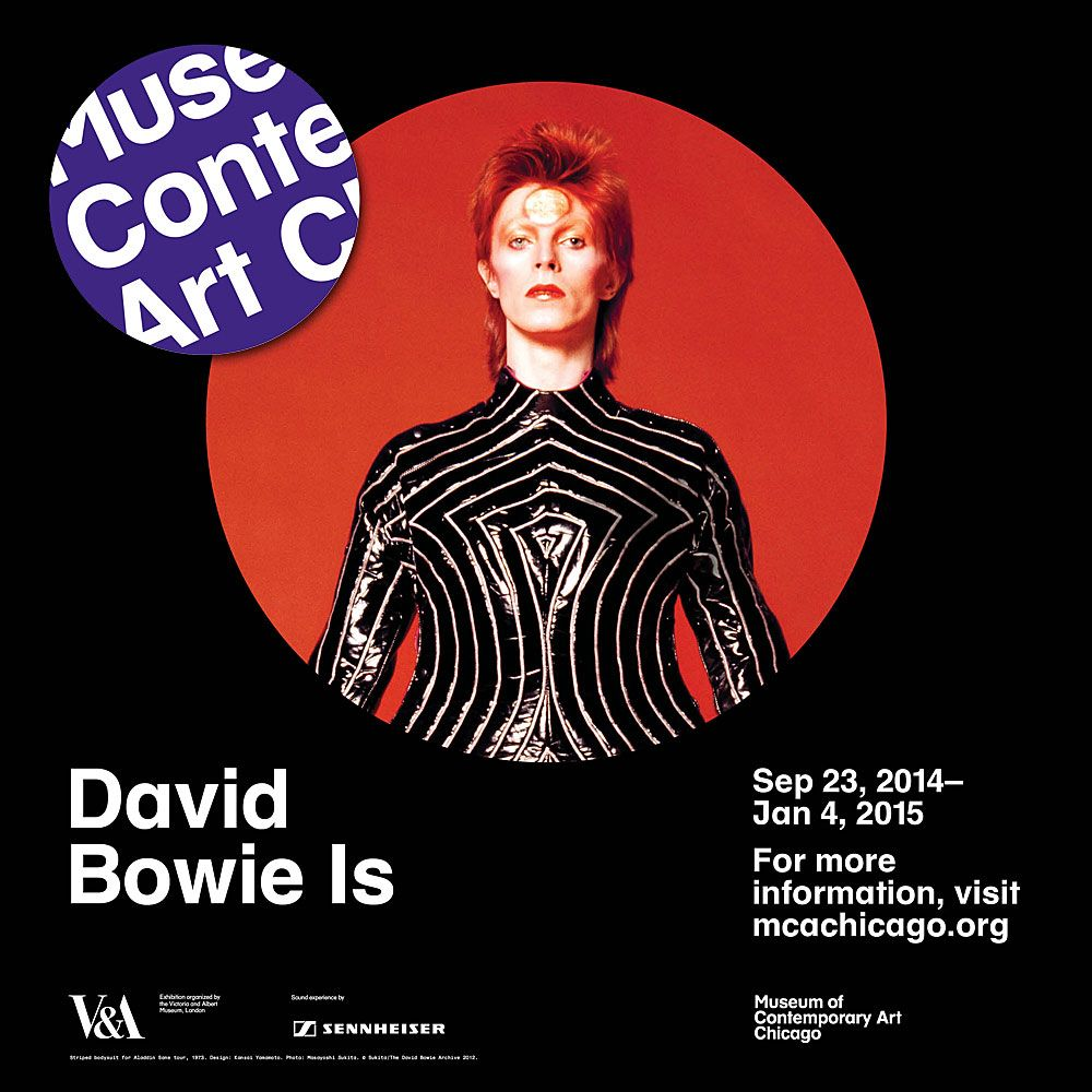 David Bowie Is Exhibit At The Museum Of Contemporary Art Starting Sept 23 2014 David Bowie Museum Of Contemporary Art Bowie