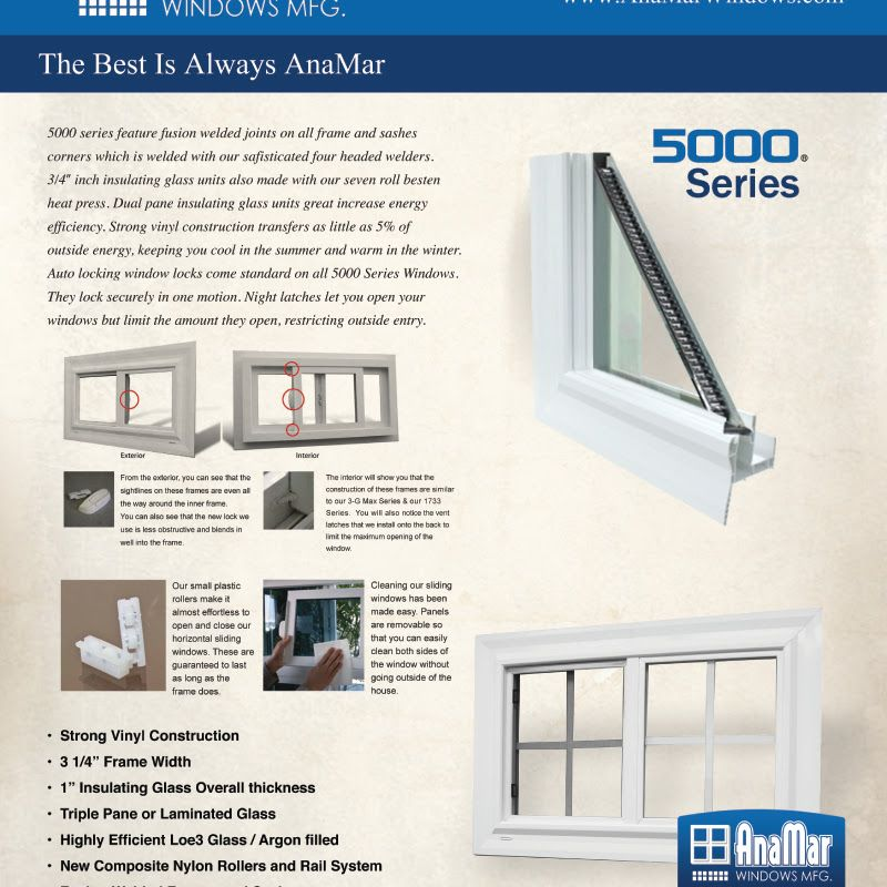 Www Anamarwindows Com Window Vinyl Windows Doors Windows