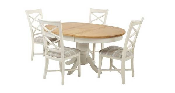 Shore Round Extending Table And Set Of 4 Cross Back Chairs Shore Amazing Dfs Dining Room Furniture Design Decoration