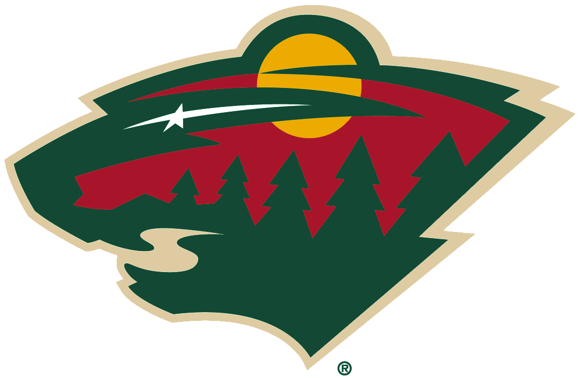 Nhl Map Wild Logo Minnesota Wild Hockey Logos