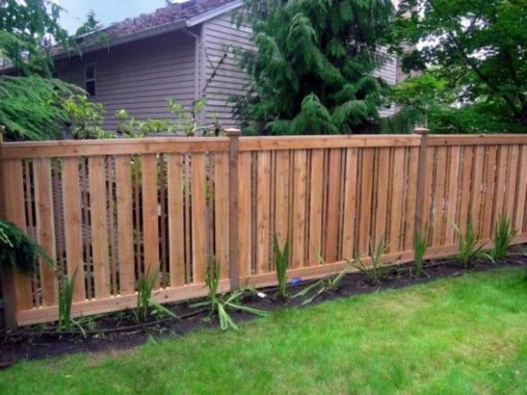45 Easy And Inexpensive Privacy Fence Design Ideas