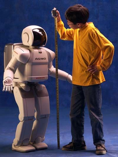 ASIMO is one of the most advanced humanoid robots in the world. It's designed to perform a wide variety of tasks