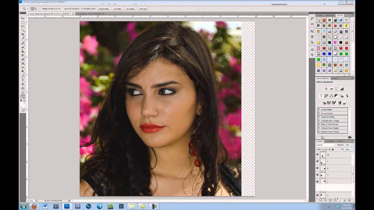 How to use a clipping mask in CS5 Skin