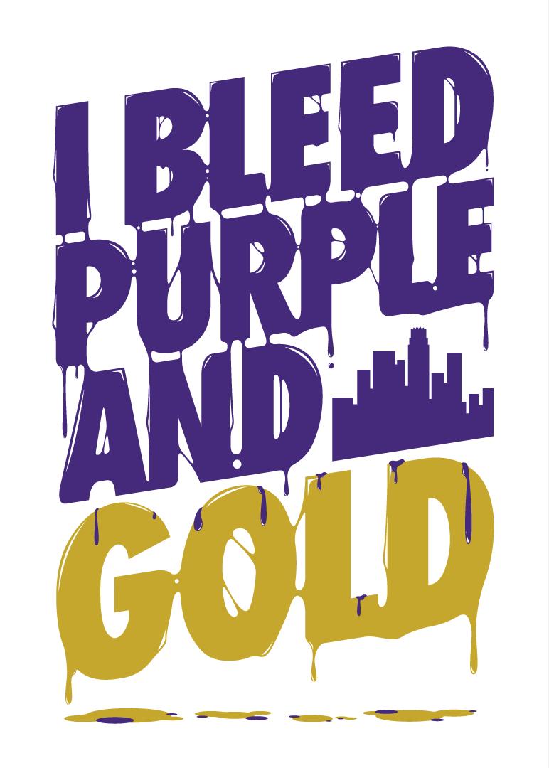i bleed purple and gold !! School spirit shirts, School