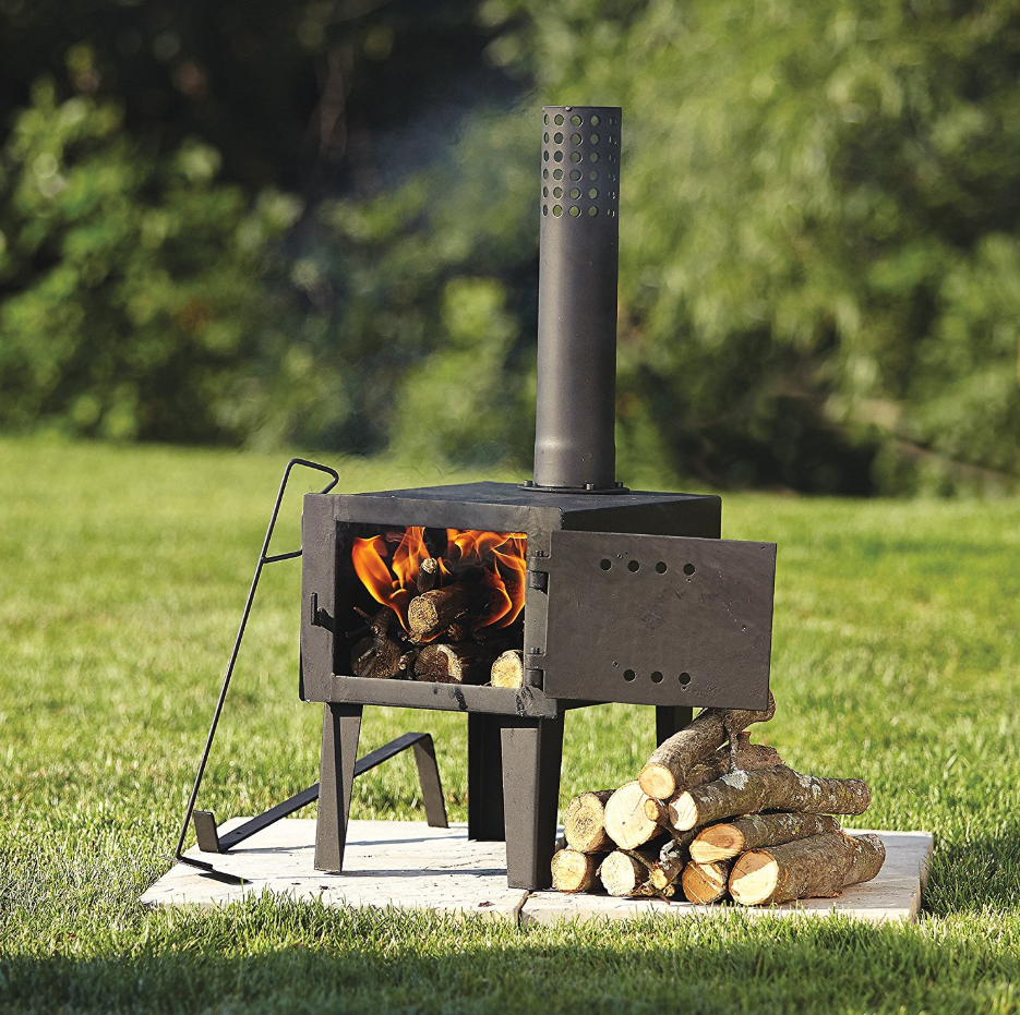 Wood Burning Stove Fireplace Fire Small Pipe Burner Outdoor