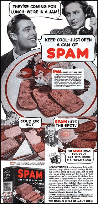Vintage Ad For Spam The Hormel Meat Of Many Uses