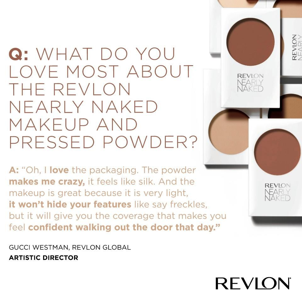 Revlon's new #NearlyNaked #makeup and #powder  #foundation