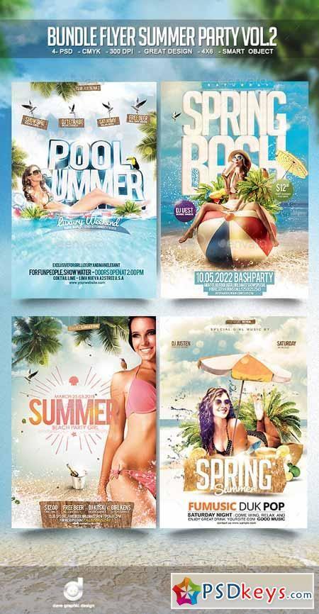 Bundle Flyer Summer Party Vol   Psd