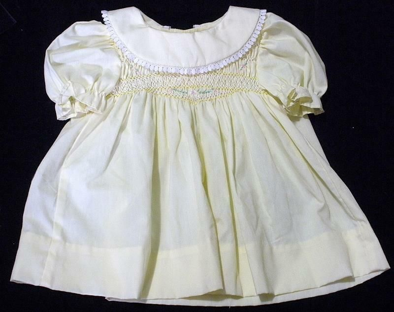 b34052c6e Vintage Polly Flinders Hand Smocked Yellow Baby Dress Size 6-12 Months  #PollyFlinders #Everyday