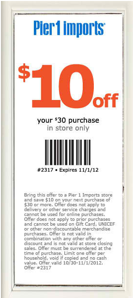 10 Off 30 At Pier 1 Imports Coupon Via The Coupons App Coupon Apps Pier 1 Imports How To Apply