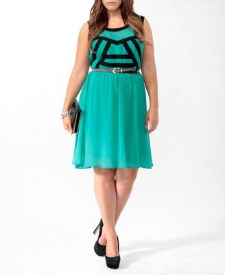 Contrast Panel Dress | FOREVER21 PLUS - 2000046233