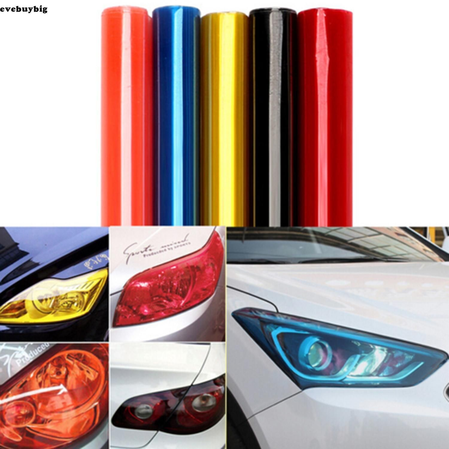 Pvc Tinting Film Fog Tail Lights Headlights Tint Film Car Van Wrap