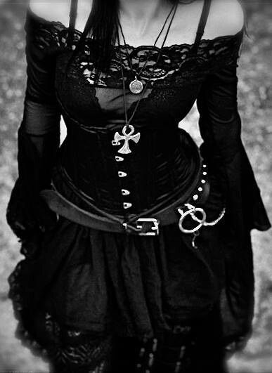 The Goth subculture promoted Gothic Fashion. The aesthetic are usually dark, mysterious and usually wears black clothing. My kind of style, well at least ideally in my high school days.