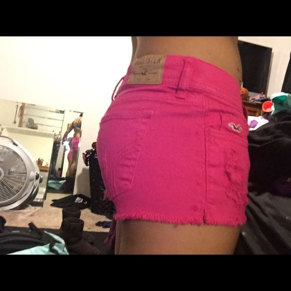 Shorts Pink shorts from Hollister size 00 waist 23 in good condition Hollister Shorts