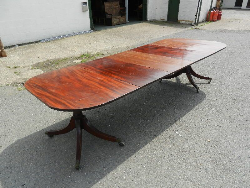 Original Georgian Dining Table Large 10ft Regency Period