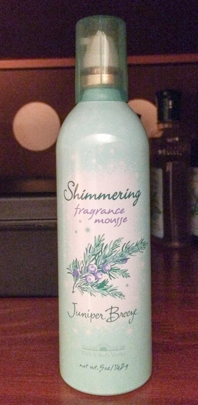 Bath Body Works Juniper Breeze Shimmering Fragrance Mousse