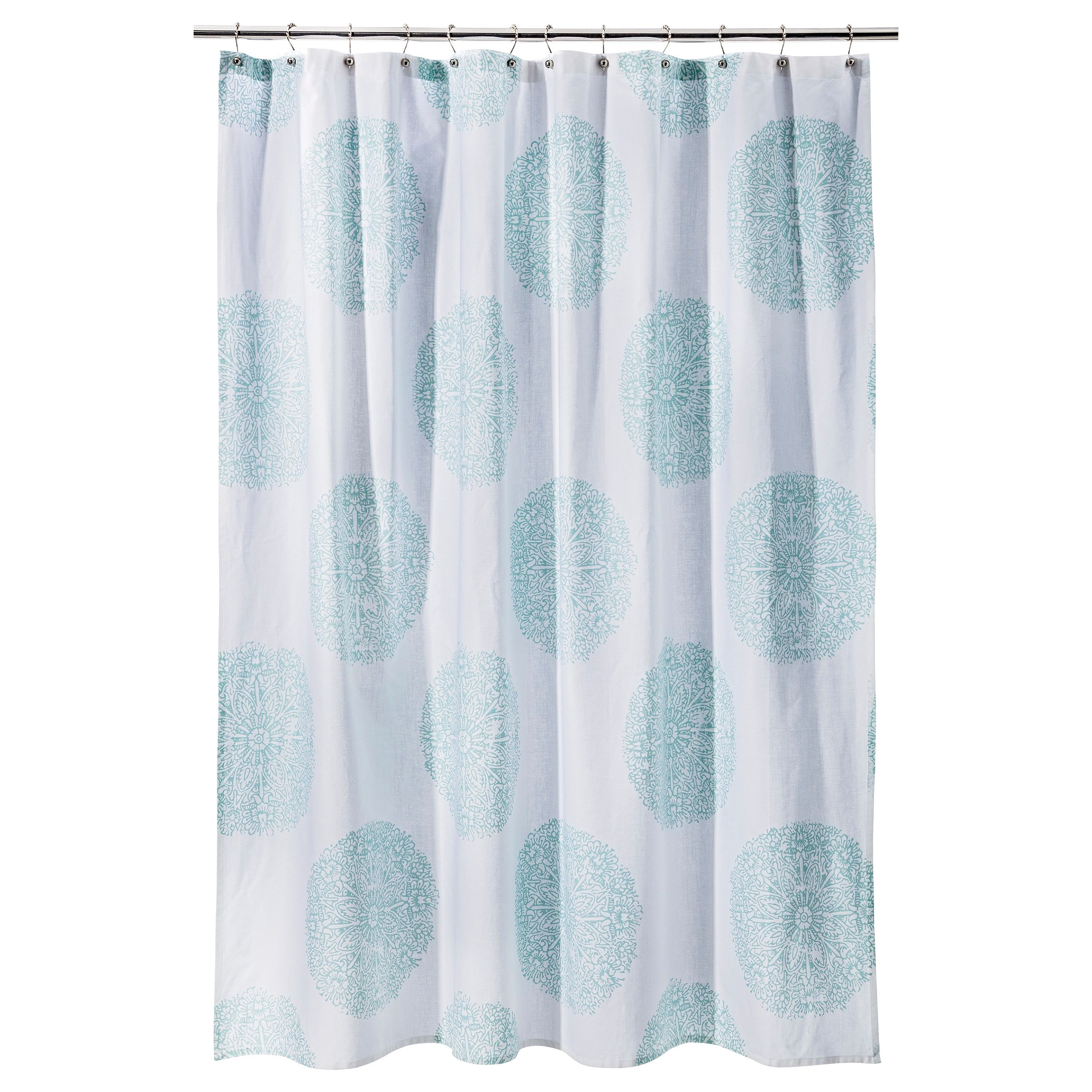 Threshold Medallion Shower Curtain Medallion Shower Curtain