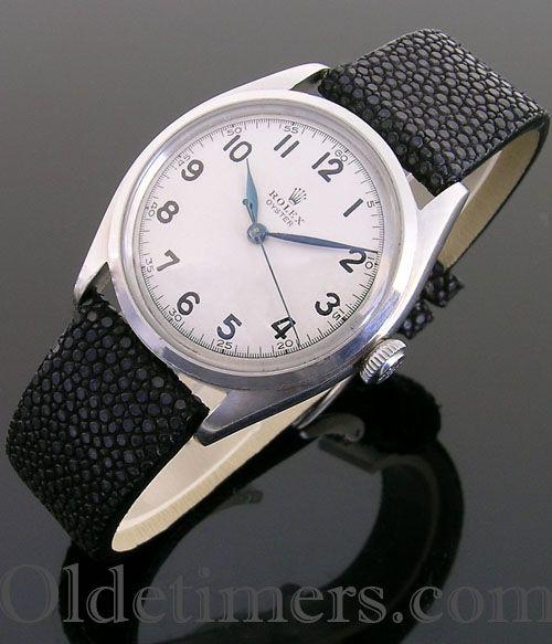 1946 steel vintage Rolex Oyster watch
