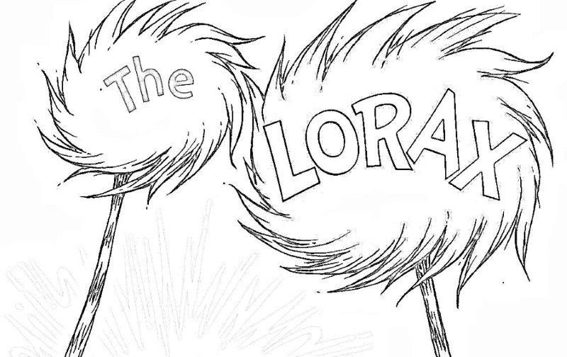 the lorax characters coloring pages - dr seuss characters coloring pages coloring for
