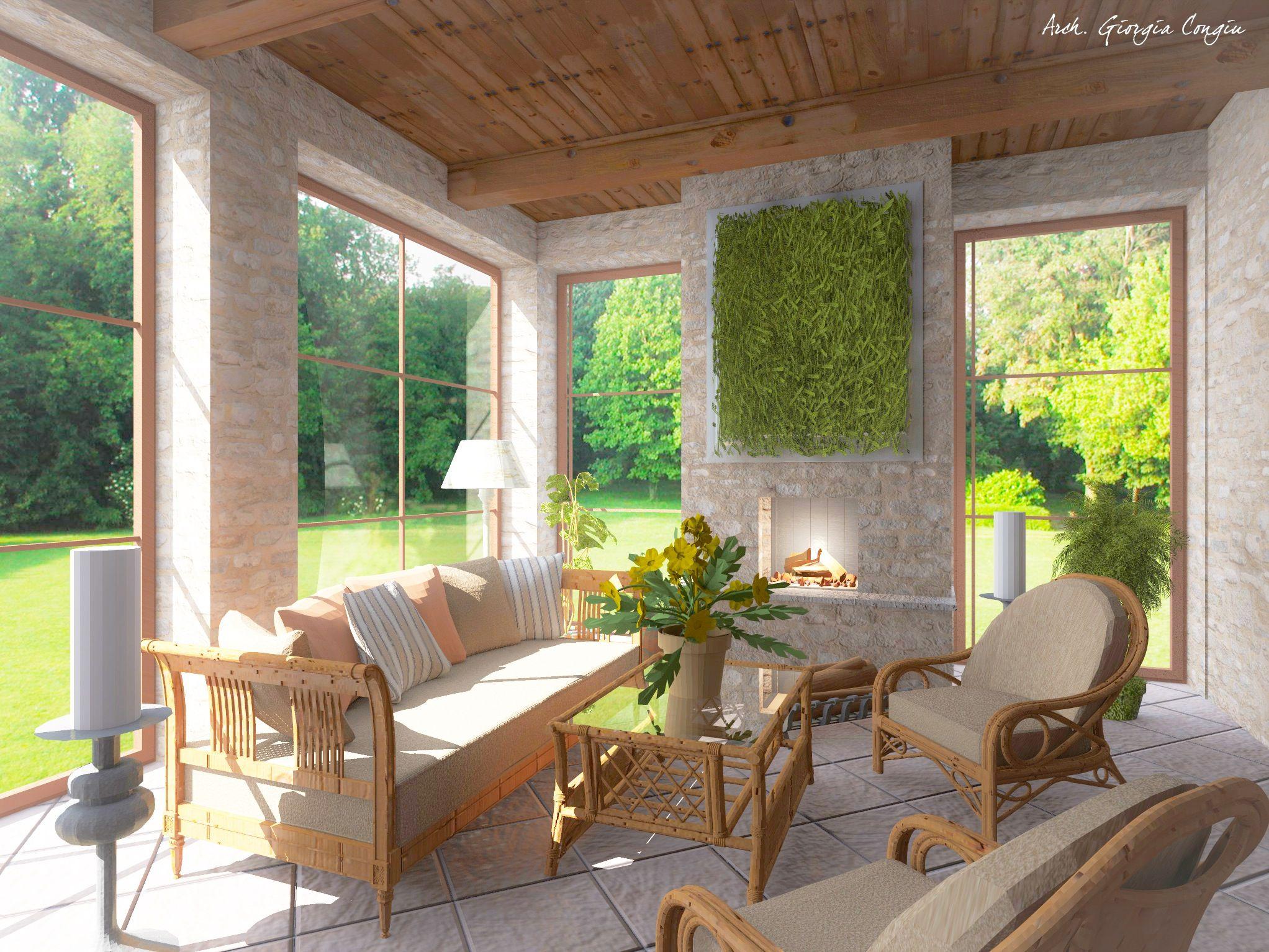 Progetti arredamento arredamento with progetti for Progetti di pool house con cucina esterna