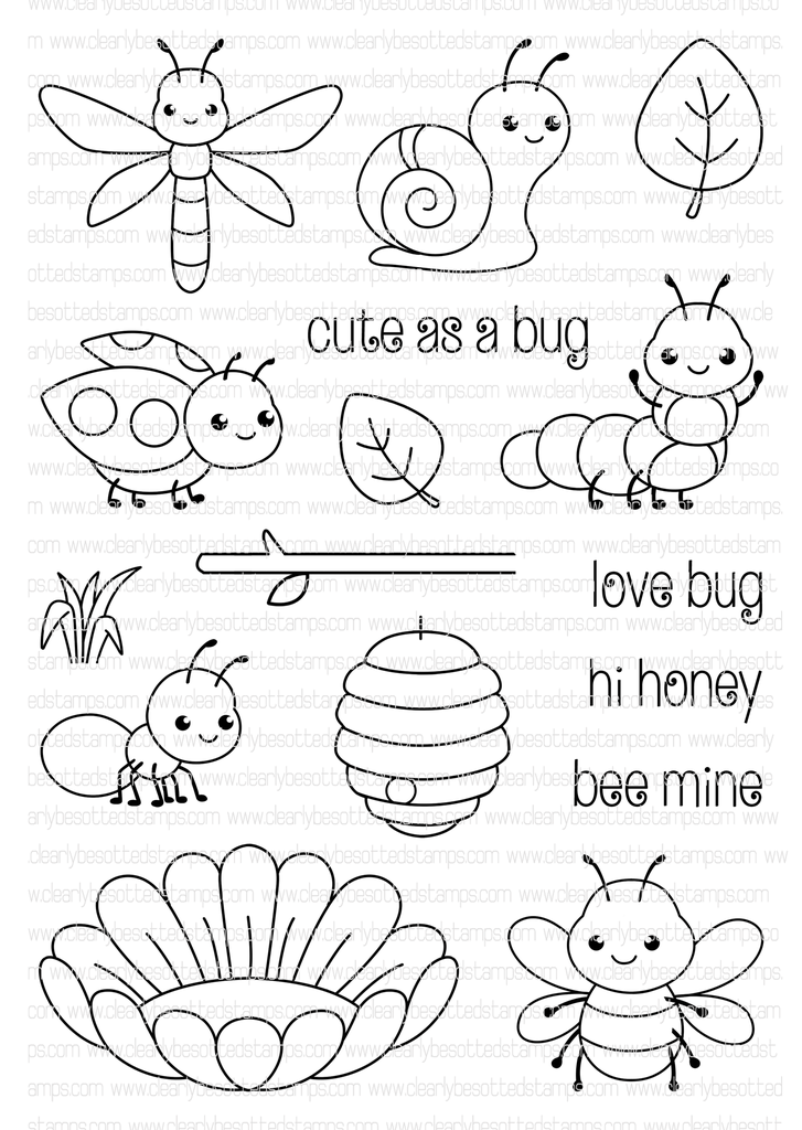 Cute As A Bug | Clearly Besotted Stamps | Embroidery | Pinterest ...