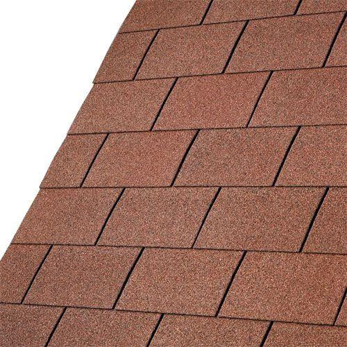 Best Iko Roofing Felt Shingles Red Square Flat Roof Tiles 400 x 300