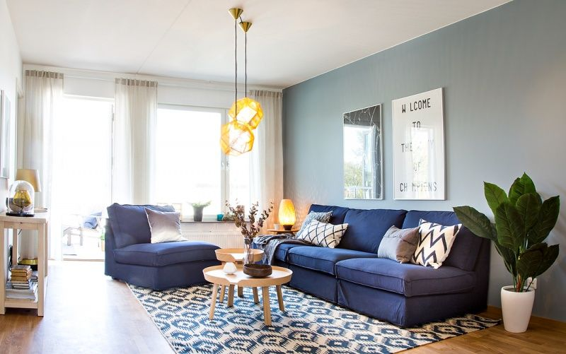 Usar El Azul Como Hilo Conductor In 2019 Para Mi Casa