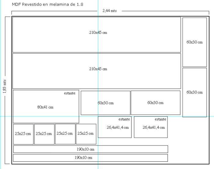 Resultado de imagen para muebles para tv mdf planos for Planos de melamina