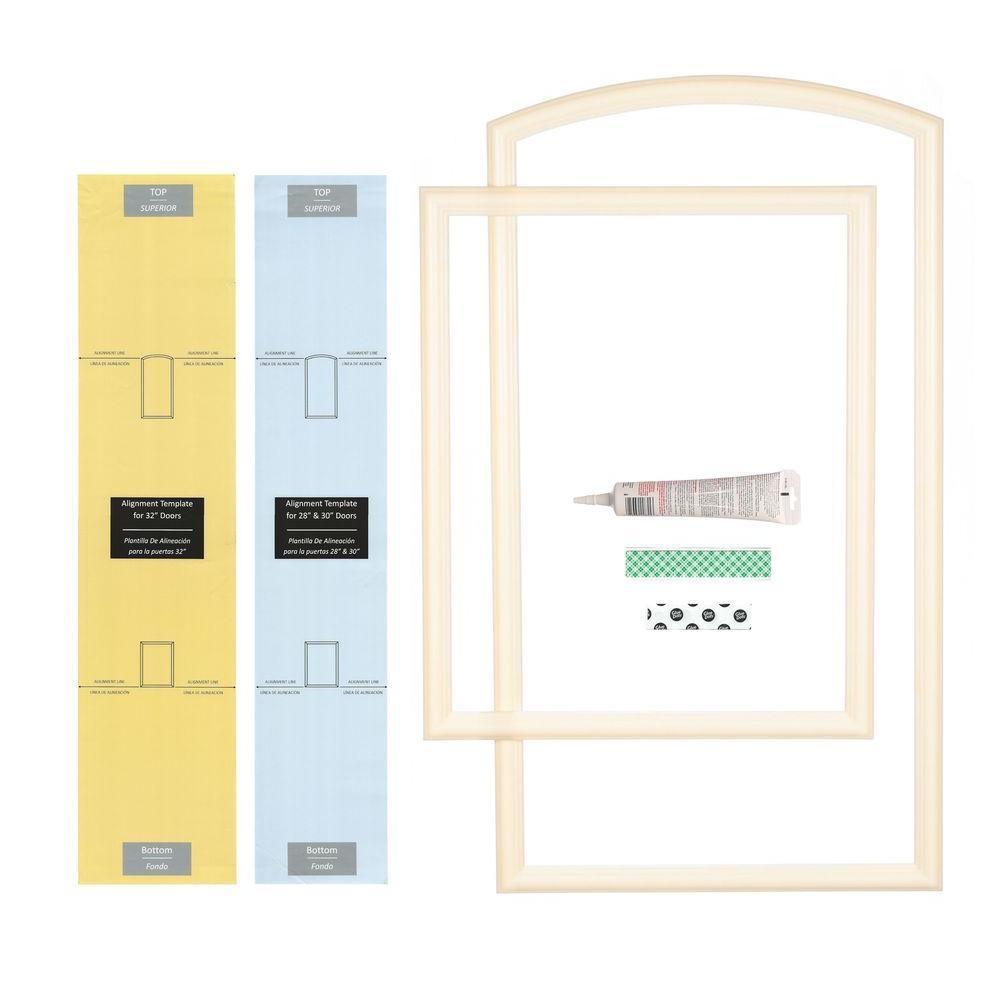 Ez Door 28 In 30 In And 32 In Width Interior Door Self Adhering Decorative Frame Kit Ezd Fr 30 The Home Depot Door Molding Kit Frame Decor Doors Interior