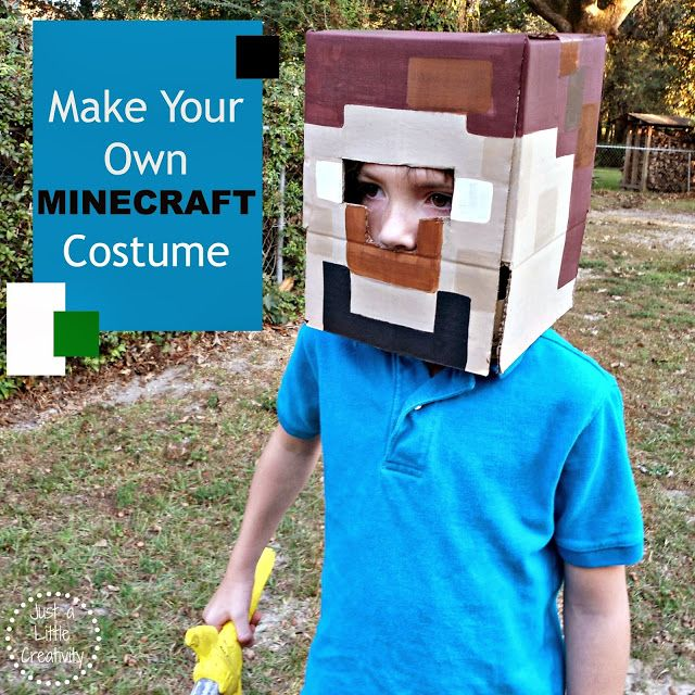 Make Your Own MINECRAFT Costume {Easy DIY Costumes, Halloween - minecraft halloween costume ideas