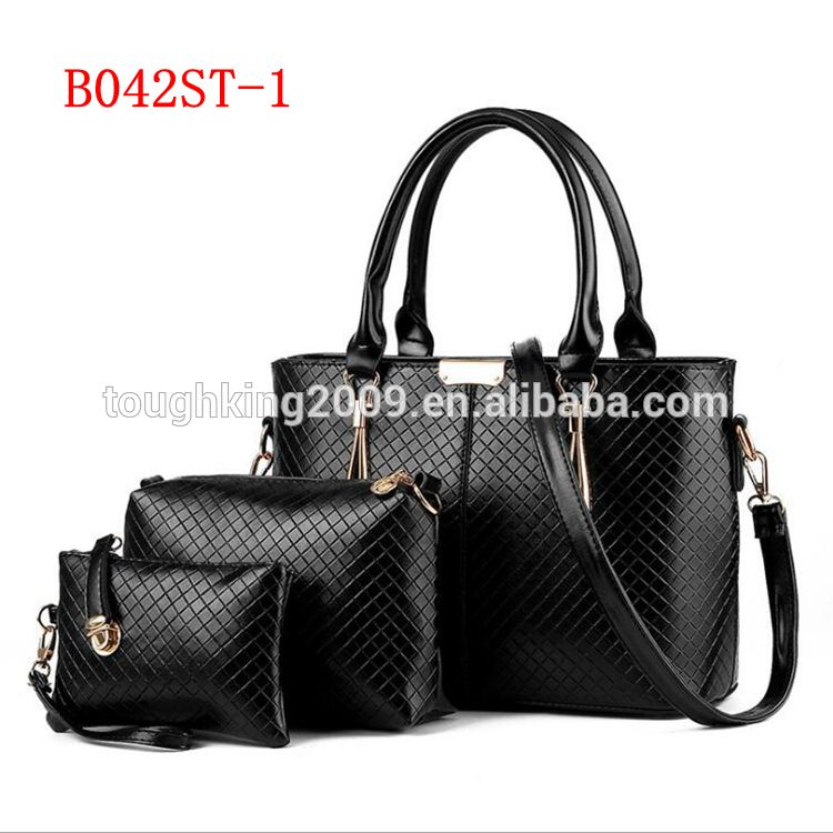191a107354e00 Fashion 3pcs set Pure Color Hard PU Leather Office Ladies  Bags China  Handbag At Low Price