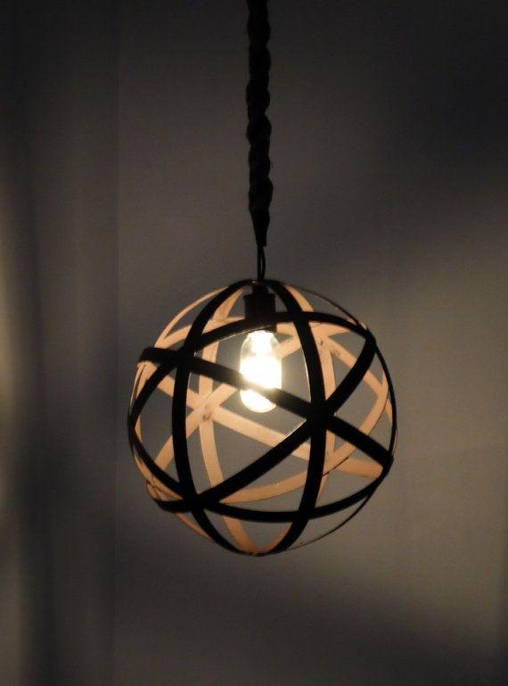 Metal Orb Pendant Light Rustic Chandelier Industrial Lighting