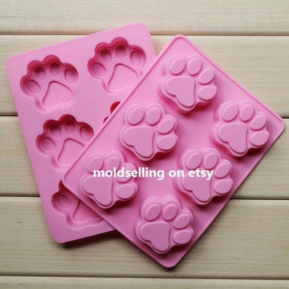 Moule Silicone Paw Print /& Bone Shape Ice Cube Tray//Gâteau Moule