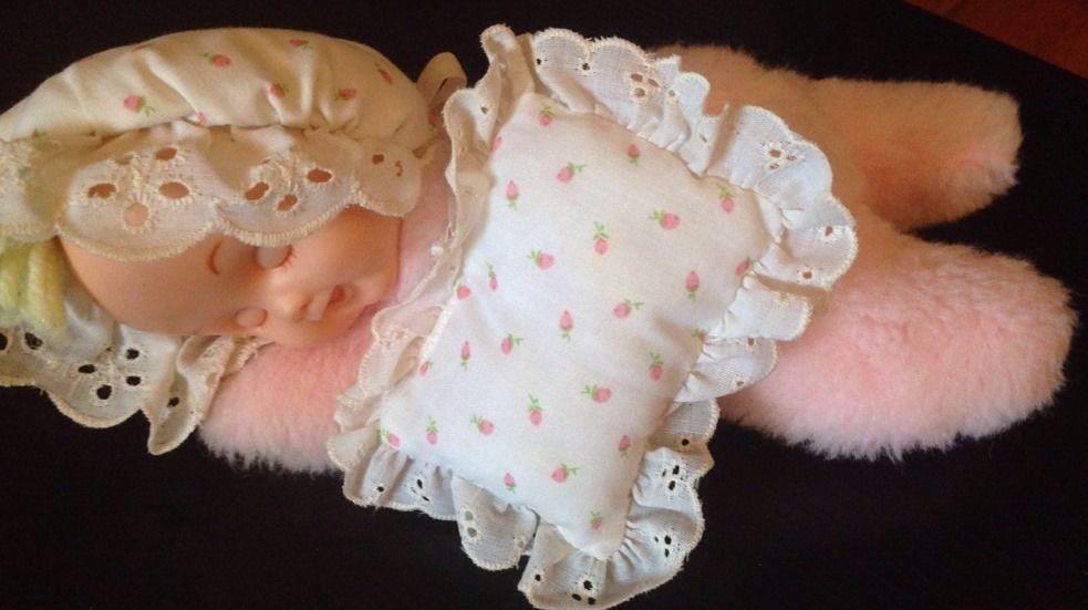 8196d3981d5d Vtg Eden Rubber Face Soft Baby Doll Pink Sleeping Pillow Musical ...