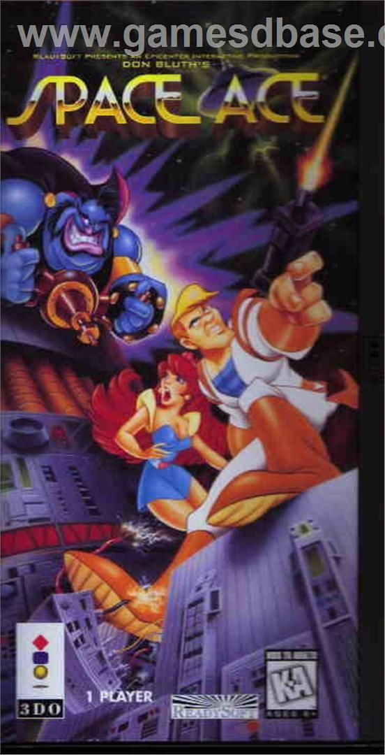 Captain Quazar 3do   Box cover for Space Ace on the