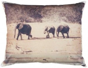 Beautiful Simonne Holm pillow with elephants