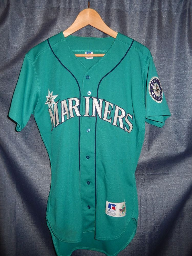 the best attitude 8b722 10660 VTG 1990s Seattle Mariners Russell Diamond Collection Teal ...