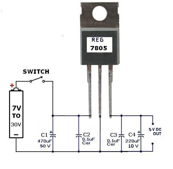 pin by james charles on voltage regulator 7 30v in 5v out electronic engineering diy. Black Bedroom Furniture Sets. Home Design Ideas