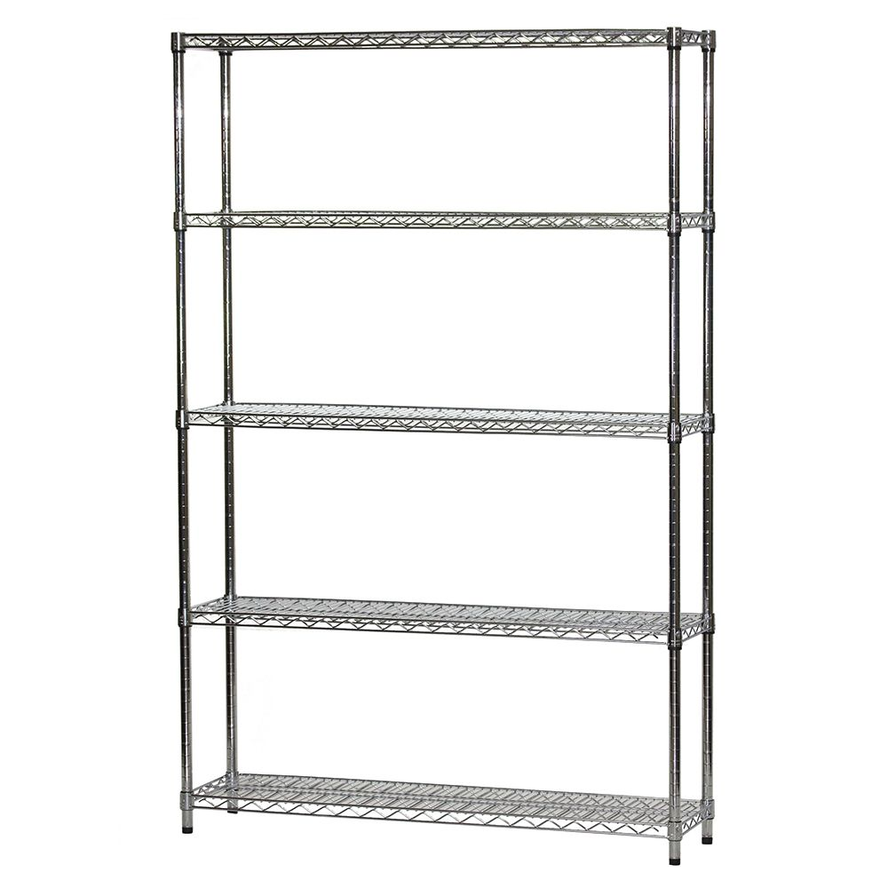 Wire Shelving Unit w/ 5 Shelves - 12\